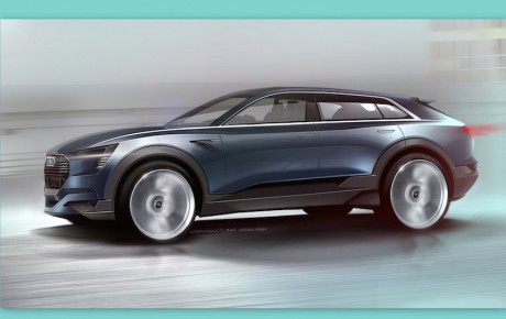 Forsmag på den elektriske Audi Q6 e-tron