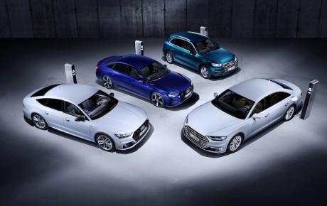 Fire nye Audi-modeller til stikkontakten