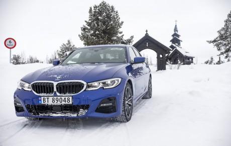 Den nye 3-serie på tur i sneen